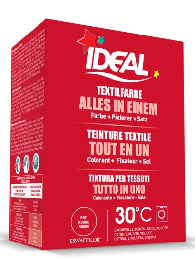 Teinture textile ROUGE Tout en 1 230g | IDEAL / ESWACOLOR