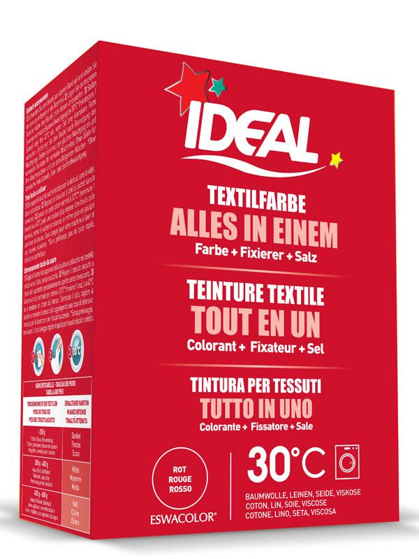 Ideal eswacolor teinture textile rouge tout en 1 230g teinture textile - Ideal teinture textile ...