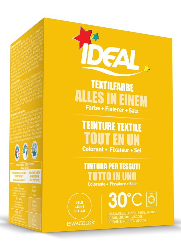 Ideal eswacolor teinture textile jaune tout en 1 230g teinture textile - Teinture ideal tout en un ...