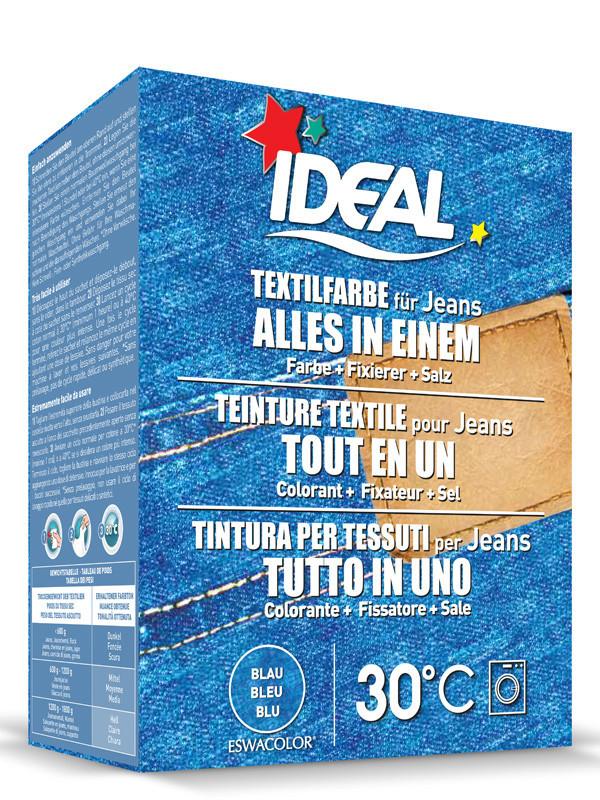Ideal eswacolor teinture textile jeans bleu tout en 1 350g teinture tex - Teinture ideal tout en un ...