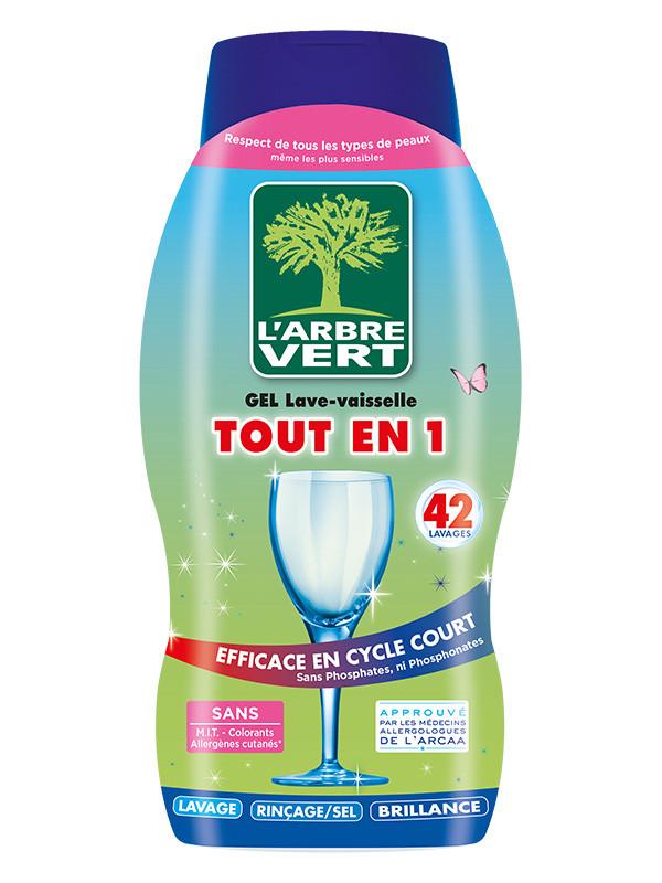 l 39 arbre vert gel lave vaisselle tout en 1 cologique 720ml produits vaisselle imbiex sa. Black Bedroom Furniture Sets. Home Design Ideas