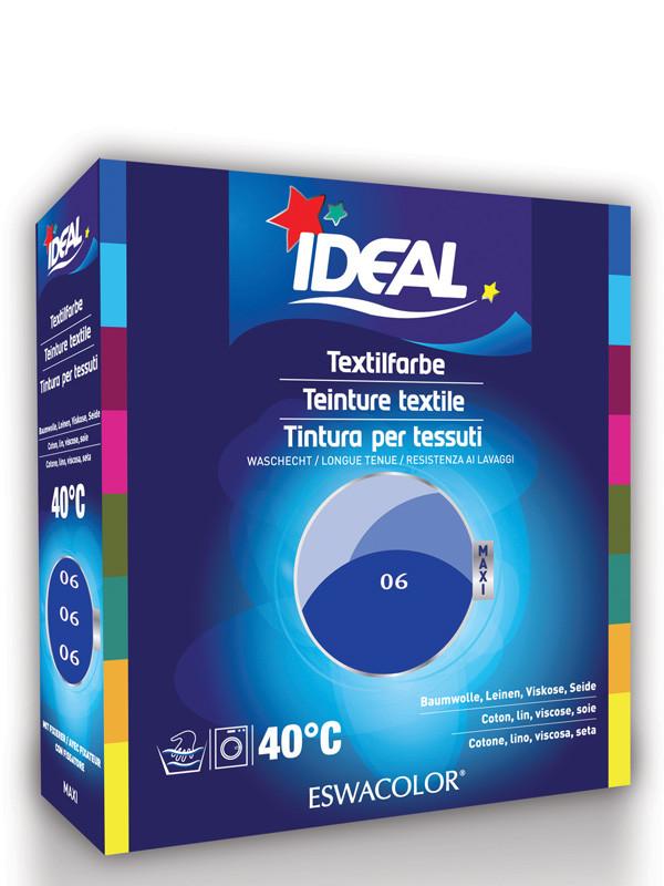Ideal eswacolor teinture textile bleu roi pour coton lin viscose soie - Teinture ideal polyester ...