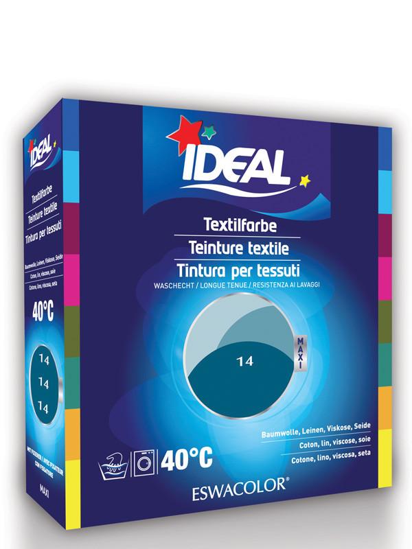 Ideal eswacolor teinture textile bleu petrole pour coton lin viscose s - Teinture polyester ideal ...