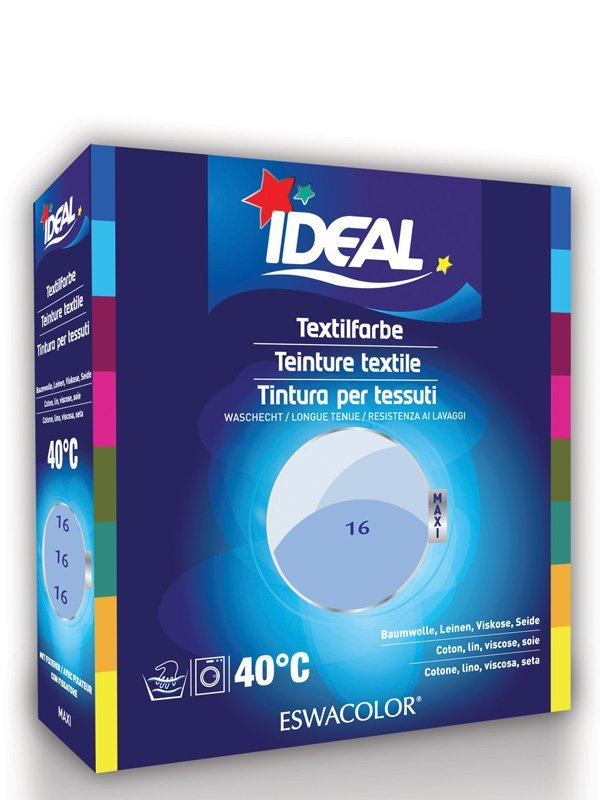 Ideal eswacolor teinture textile bleu ciel pour coton lin viscose soie maxi 16 teinture - Teinture textile ideal ...