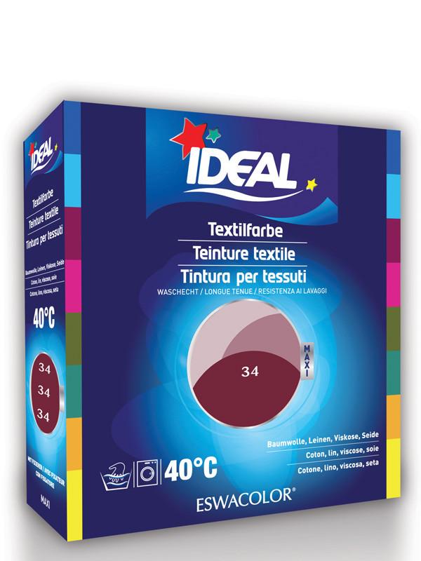 ideal eswacolor teinture textile bordeaux pour coton lin viscose soie maxi 34 teinture. Black Bedroom Furniture Sets. Home Design Ideas
