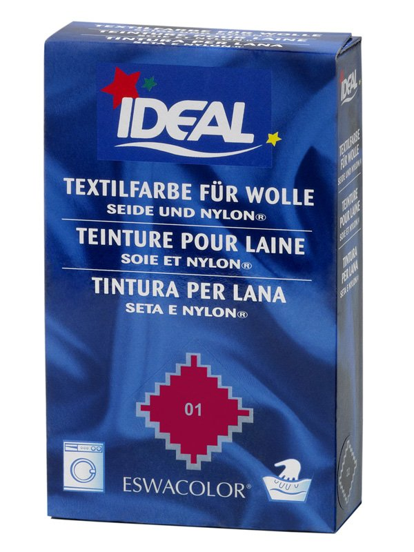 Ideal eswacolor teinture textile rouge pour laine - Teinture textile ideal ...