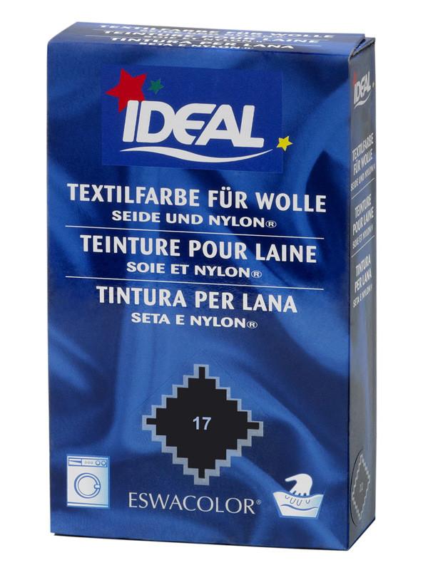 Ideal eswacolor teinture textile noir pour laine soie et nylon 17 tein - Teinture textile noir ...