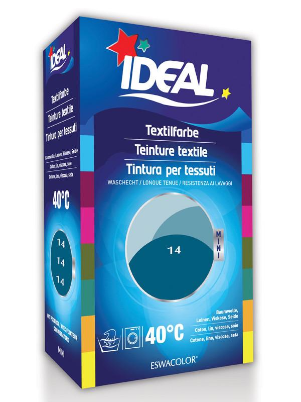 Ideal eswacolor teinture textile bleu petrole pour coton lin viscose soie mini 14 - Teinture textile ideal ...