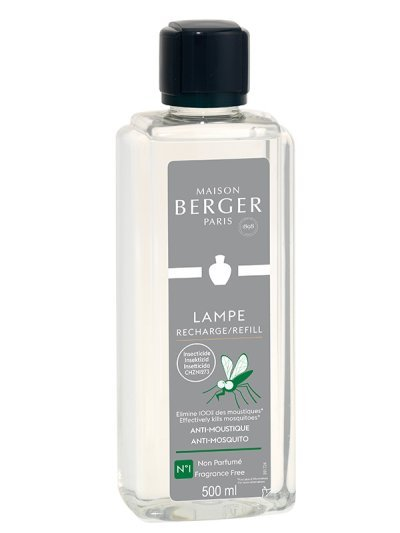 LAMPE BERGER Parfum Anti-Moustique Neutre 500ml