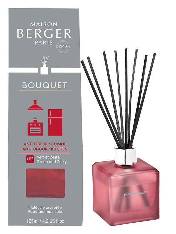 maison berger bouquet parfum cube sp cial odeurs de cuisine 125ml vert zest bouquet. Black Bedroom Furniture Sets. Home Design Ideas