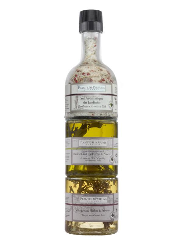 plantes parfums cadeau saveurs sel du jardinier huile d 39 olive et vinaigre plantes. Black Bedroom Furniture Sets. Home Design Ideas