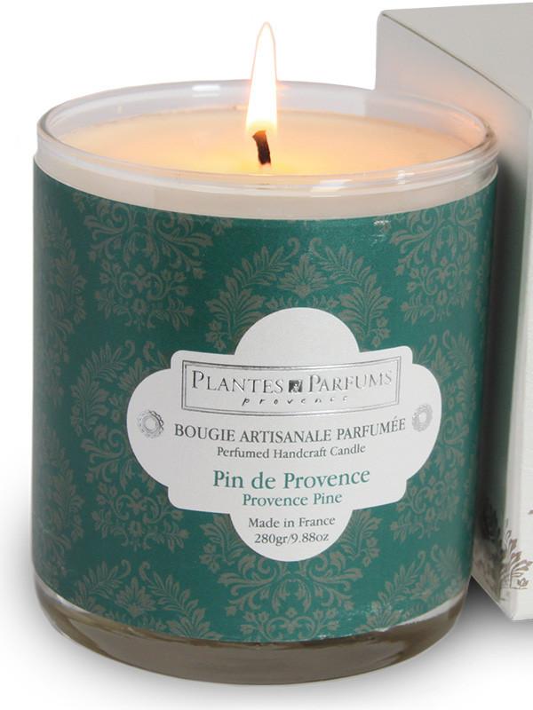 plantes parfums bougie parfum e pin de provence 280g bougies parfum es v g tales imbiex sa. Black Bedroom Furniture Sets. Home Design Ideas