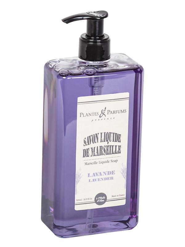 plantes parfums savon liquide de marseille lavande 500ml savons de marseille liquide. Black Bedroom Furniture Sets. Home Design Ideas