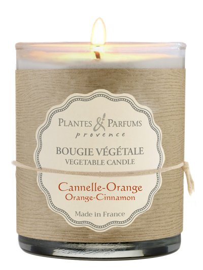 Bougie parfumée Cannelle-Orange 180g PLANTES & PARFUMS