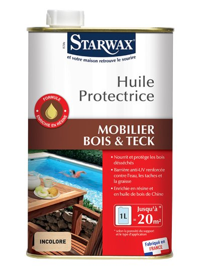 Starwax huile protectrice pour teck bois exotiques 1l starwax imb - Huile pour bois exotique ...