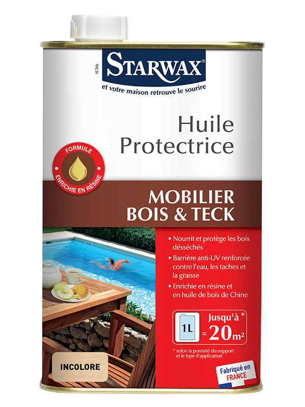 starwax huile protectrice pour teck bois exotiques 1l starwax imbiex sa. Black Bedroom Furniture Sets. Home Design Ideas