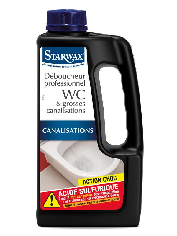 STARWAX   Déboucheur professionnel WC   grosses canalisations 1L ... fe62d2df90fd